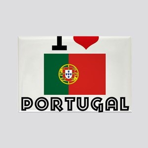 I HEART PORTUGAL FLAG Rectangle Magnet